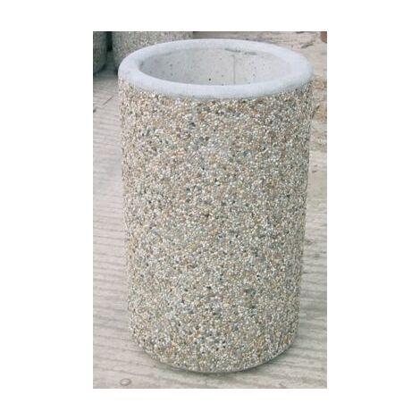 Abfalleimer MAXI | Gewicht 260 kg | Ø 55 cm | Certeo Betonmülleimer