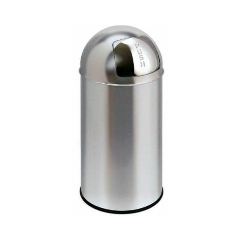 Abfalleimer | Mit Push-Klappe | Volumen 40 l Abfallbehälter Abfallbehälter für