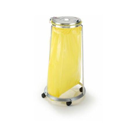 Abfallsackhalter für 120-l-Sack - 3-Bein-Fahrgestell, 4 Lenkrollen - Höhe 1010