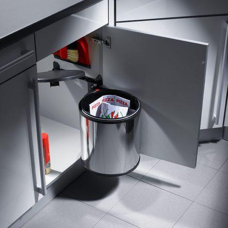 Abfallsammler Big Box 15 L -Edelstahl / braun Hailo 3715101