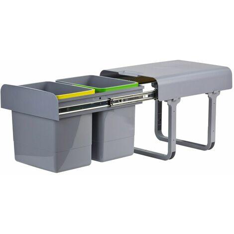 Abfallsammler Mülleimer Müllsammler 2x15 Ltr. Abfalleimer Abfallbehälter