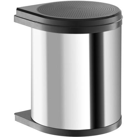 Abfallsammler Mono 15 L Edelstahl / schwarz Hailo 3515031