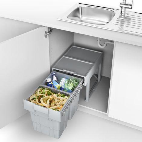 Abfalltrennsystem essensa easywaste mit 3-fach Trennung