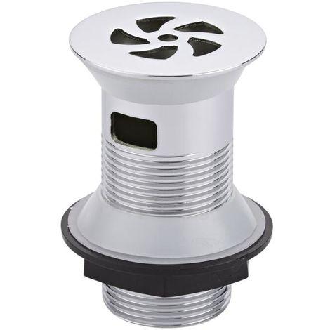 Ablaufgarnitur für Waschbecken - Freilaufende Garnitur ohne Stöpsel für Waschbecken mit Überlauf - Edelstahl