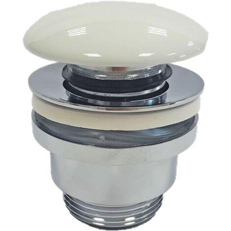 Ablaufventil für Waschbecken ohne Überlauf - weißes Finish
