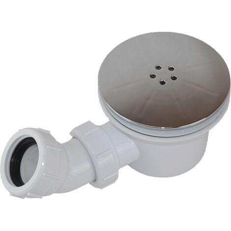 Ablaufventil horizontal PIATTO mit Abdeckung Ø90 mm für Duschwannen aus SoliCast®