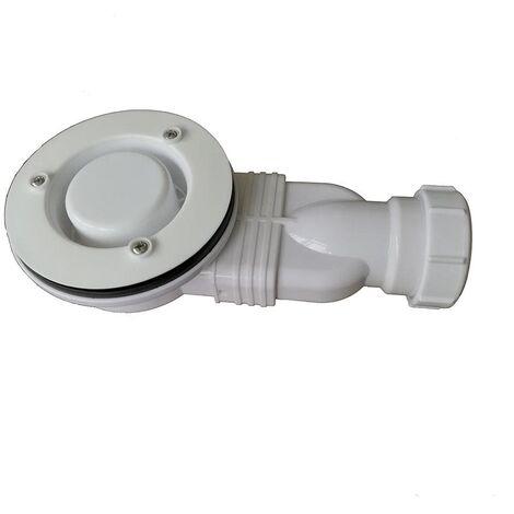 Ablaufventil horizontal PIATTO ohne Abdeckung Ø90 mm für Duschwannen aus SoliCast®