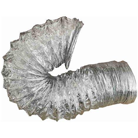 Abluftschlauch, Flexschlauch Alu Flex Rohr, Aluminium flexibel Ø 125 mm, 6 m z.B. für Lüftung, Trockner, Abzugshaube