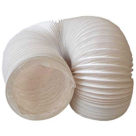 Abluftschlauch PVC flexibel Ø 150 mm, 6 m z.B. für Klimaanlagen, Wäschetrockner, Abzugshaube