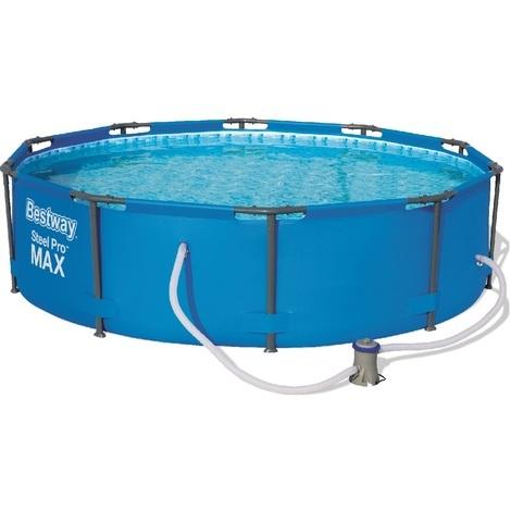Abnehmbares Röhrenförmiges Pool Bestway Steel Pro Max 305x76 cm mit Kartuschenreiniger 1.249 L/S