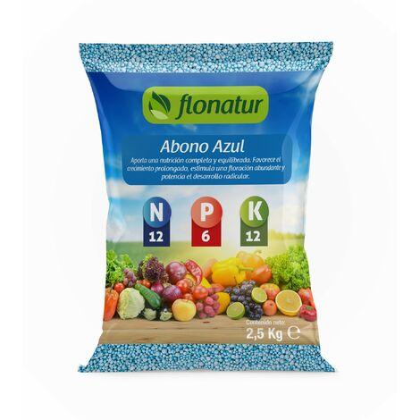 Abono azul granulado. Naturplant. 2,5 kg.