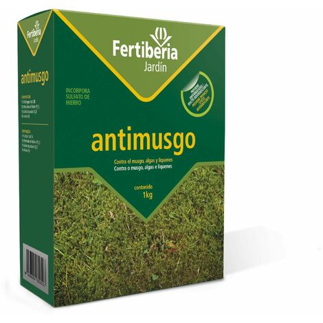 Abono césped antimusgo 3 Kg Fertiberia