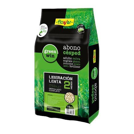 Abono Césped Organic Complet 2 Meses Liberación Lenta FLOWER - 15 Kg