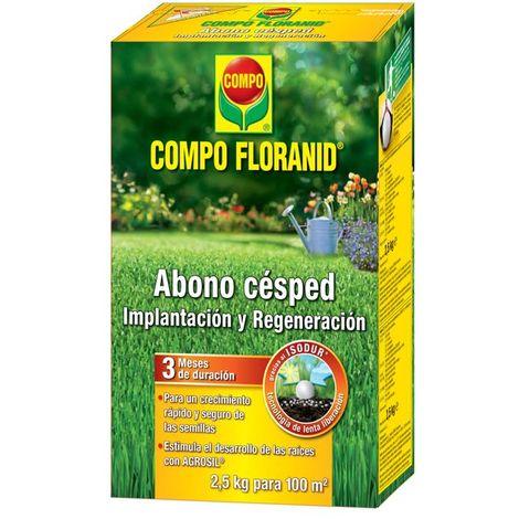 Abono Compo Floranid implantación y regeneración césped 2,5 kg