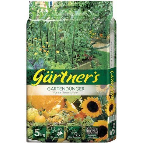 Abono de jardín para jardinear para todo cultivo de jardín 5 kg. org.-mineral.