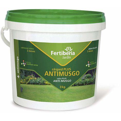 Abono de Liberación Lenta Césped Plus con tratamiento ANTIMUSGO - Cubo 3 kg