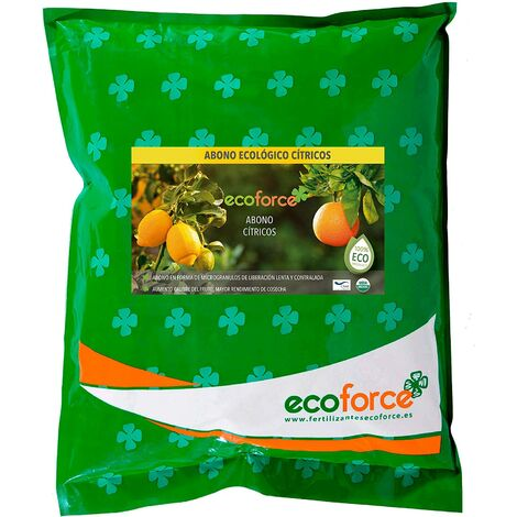 Abono ecológico de 5 kg de cítricos especiales.