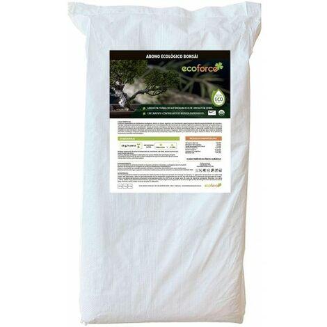 Abono Fertilizante especial para Bonsái de 25 kg. Origen 100% Orgánico y Natural, Granulado de Liberación Lenta y controlada