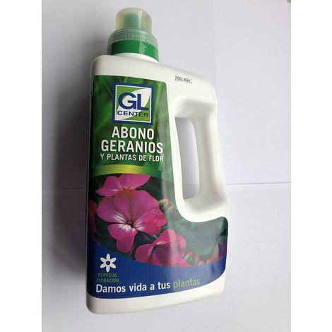 Abono geranios y plantas de flor GL CENTER 1 Lt