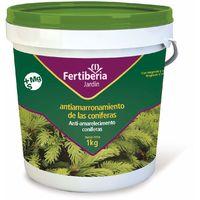 Abono Granulado para Coníferas (Pinos, Cipreses, Abetos y Tuyas) con Efecto Antiamarronamiento con Magnesio y Azufre (MG + S) - 1 kg