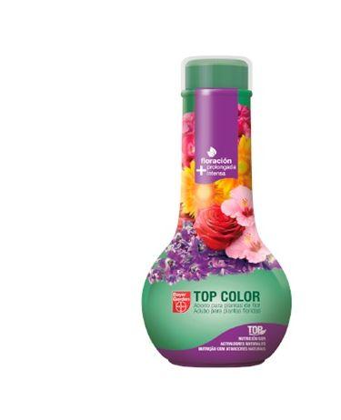 Abono líquido para potenciar la floración de plantas y flores Top Color 750 ml
