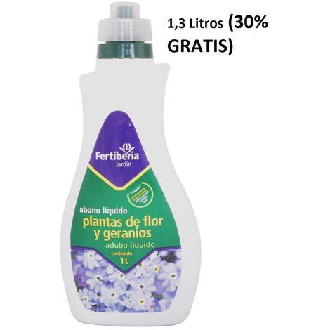Abono líquido Plantas de Flor y Geranios - 1 litro + 30%