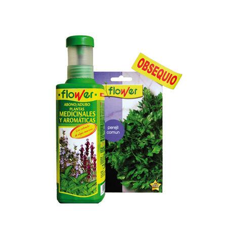 Abono líquido y semillas plantas aromáticas Flower