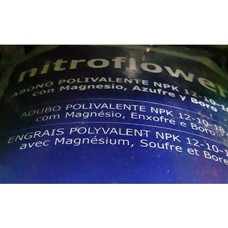 Abono Nitroflower 12-10-18 20Kgs Azul