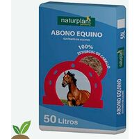 ABONO ORGANICO EQUINO 50 L (25 KG APROX.) – SUSTRATO 100% ESTIERCOL DE CABALLO
