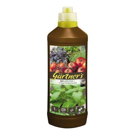 Abono orgánico para césped + tomates, 1 l