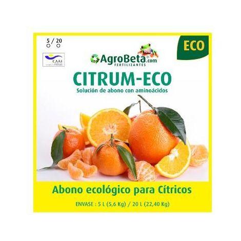 Abono para cítricos ecológico Agrobeta 20 L
