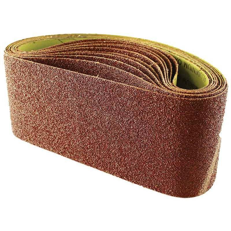 Image of 100mm x 610mm 80 grit sanding belts pack of 10 - Abracs