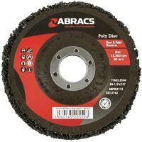 Abracs 115mm Poly Disc - Black 2 Pack