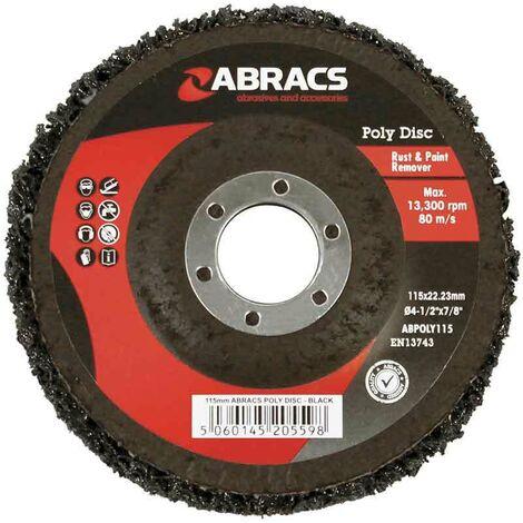 Abracs EXPERT 115mm x 22mm Black Poly Disc