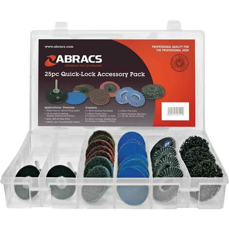 Abracs Quick Lock Accessory Pack 25 Piece 50mm