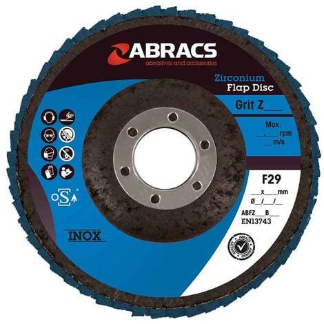 Abracs Zirconium Flap Disc 115mm x 40G