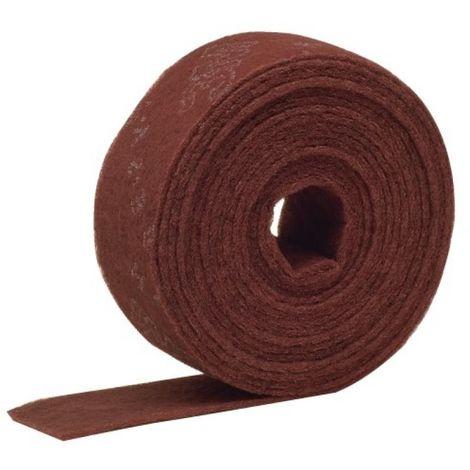 Abrasif en rouleau Scotch Brite CF-RL 100x10 m coloris rouge grain très fin