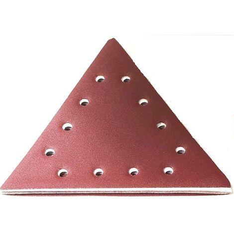 Abrasif triangulaire velcro grain 120 pour ponceuse à plâtre Scheppach DS210 - Lot de 10