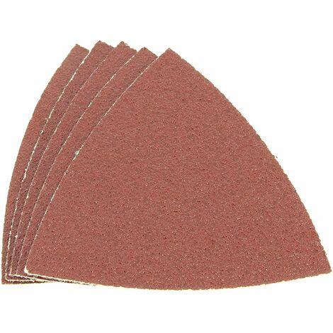 Abrasifs 82x82 80g par 5 pour Outil multifonction Ryobi, Ponceuse A.e.g, Outil multifonction A.e.g