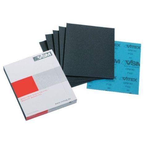 Abrasifs en feuille CP918 230x280 mm grain 180 en boîte de 50