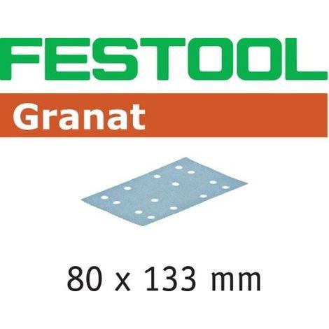 Abrasifs FESTOOL STF 80x133 P80 GR - Boite de 50 - 497119
