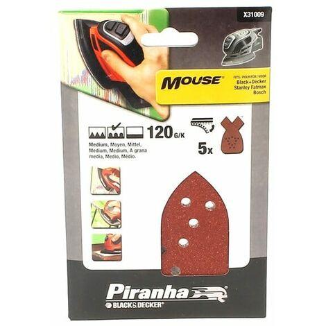 Abrasifs mouse 120g par 5 pour Ponceuse Black & decker