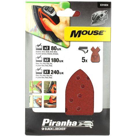 Abrasifs mouse assortis par 5 pour Ponceuse Black & decker, Outil multifonction Black & decker