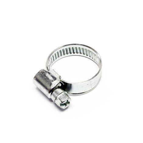Abrazadera de manguera con rosca helicoidal gusano W1 galvanizadas con zinc 9mm 12-22 mm