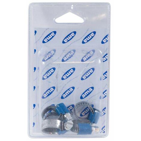 Abrazadera de tornillo sin fin 9 mm ABA 25 a 40 mm (Juego de 2 ampollas de 5 piezas)