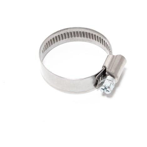Abrazadera manguera rosca helicoidal gusano W4 acero inox Ancho 12mm Rango de sujeción 35-50mm