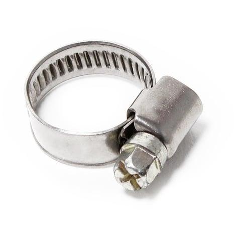 Abrazadera manguera rosca helicoidal gusano W4 acero inox Ancho 9mm Rango de sujeción 12-20mm