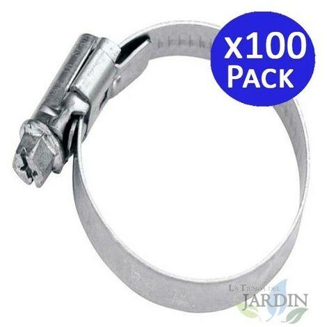 Abrazadera metálica para tubos de 25 a 40mm. 100 unidades