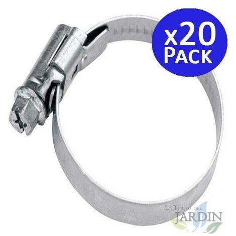 Abrazadera metálica para tubos de 25 a 40mm. 20 unidades