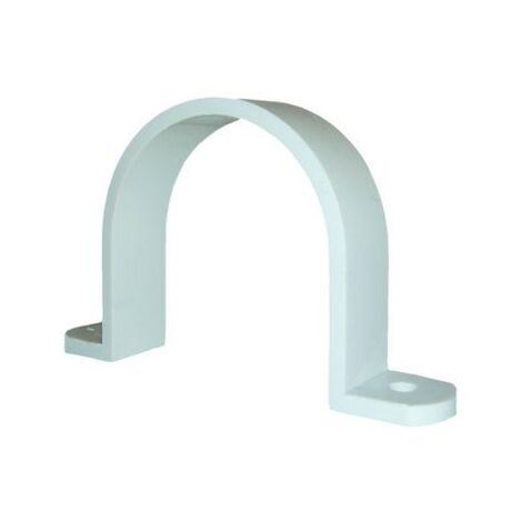 Abrazadera plástica blanca de PVC para Aspiración Centralizada